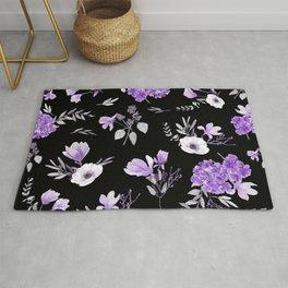 Lavender & Black Pattern Rug