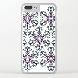Medallion Traditional 1 repeating Clear iPhone Case