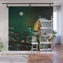 Between The Moon And The City Wall Mural