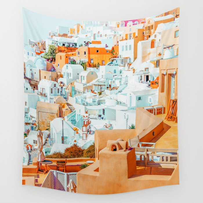 Santorini Vacay #photography #greece #travel Wall Tapestry