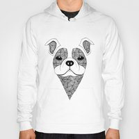 bulldog Hoodies featuring Bulldog  by Art & Be