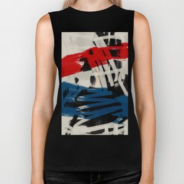 French Expressionist Abstract Art Biker Tank