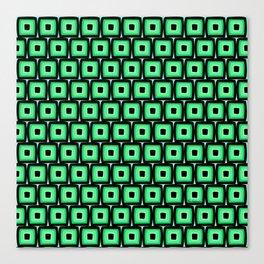 Mod Green Squares Canvas Print