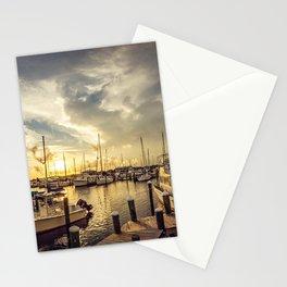 Summer Harbor Sunset Stationery Cards