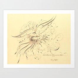 kafka's freedom Art Print