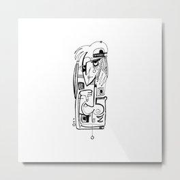 Nude Goddess Doodle 2a by Kathy Morton Stanion Metal Print