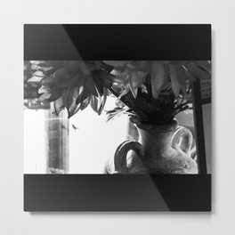 Floral Noir I Metal Print
