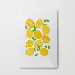 Lemon Crowd Metal Print