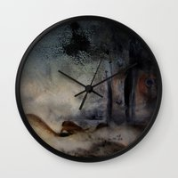 imagerybydianna Wall Clocks featuring at the close by Imagery by dianna