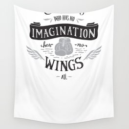 Wings and Imagination Wall Tapestry