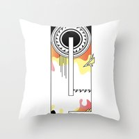 typo Throw Pillows featuring e typo by Tombst0ne