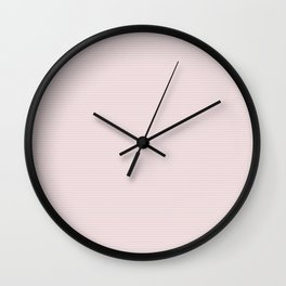 Soft Alice Pink Two Tone Horizontal Pin Stripe Wall Clock