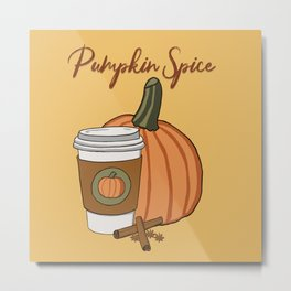 Pumpkin spice season! Metal Print