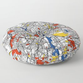 Berlin mondrian Floor Pillow