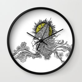 Shiva Moon Wall Clock
