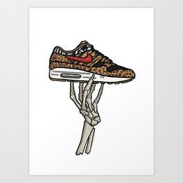 Air Max 1 Animal Skeleton Sneaker Art Art Print
