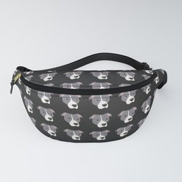 Grey and White Pit Bull Fanny Pack