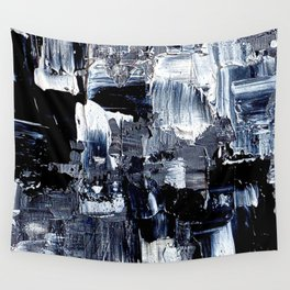 50 Shades... - black & white abstract painting Wall Tapestry
