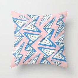 Origami Waves Throw Pillow