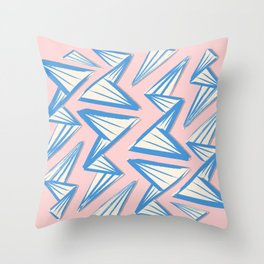 Origami Waves Throw Pillow