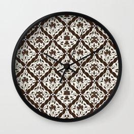 Batik Style 9 Wall Clock