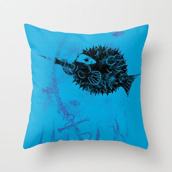 Blowgun Fish Throw Pillow