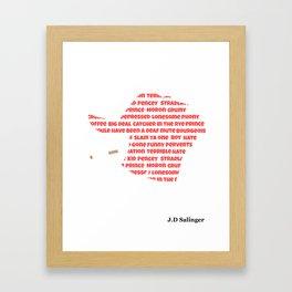 J.D Salinger Framed Art Print