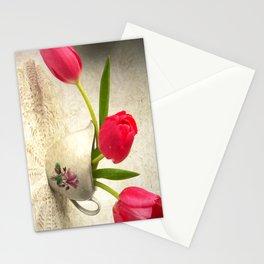 Vintage Tulips Stationery Cards