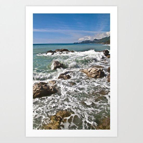 East coast on the Isle of Sicily Art Print