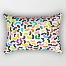 colored worms Rectangular Pillow