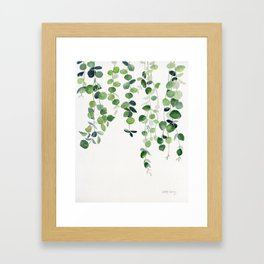 Eucalyptus Watercolor 2  Framed Art Print
