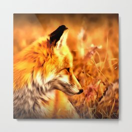 red fox acrylic four reaccw Metal Print