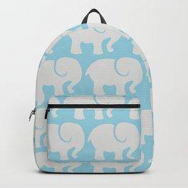 Troop Of Elephants (Elephant Pattern) - Gray Blue Backpack