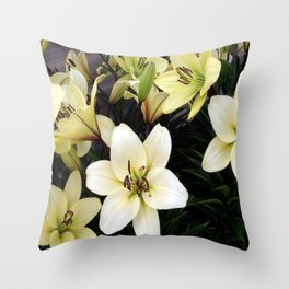 Lillies 1 Throw Pillow