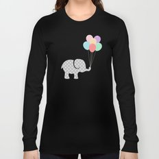 Elephant playing with balloons (children) Long Sleeve T-shirt