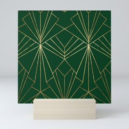 Art Deco in Gold & Green - Large Scale Mini Art Print