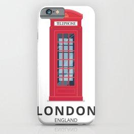 London England K6 Telephone iPhone Case
