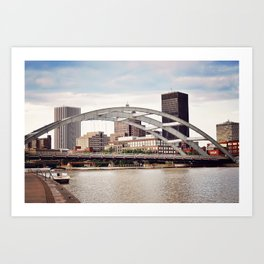 Frederick Douglass–Susan B. Anthony Memorial Bridge | Rochester NY Art Print