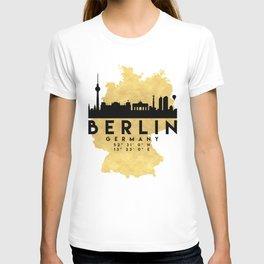 BERLIN GERMANY SILHOUETTE SKYLINE MAP ART T-shirt