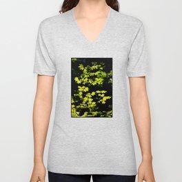 late summer sunny maple leaves Unisex V-Neck