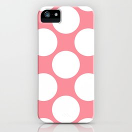 Polka Dots Pink iPhone Case