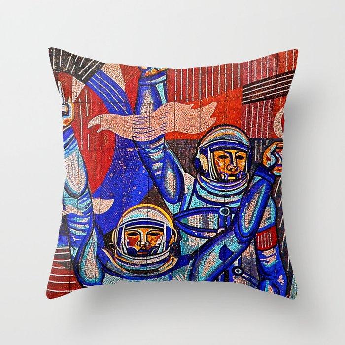 Asteroid Blues Throw Pillow