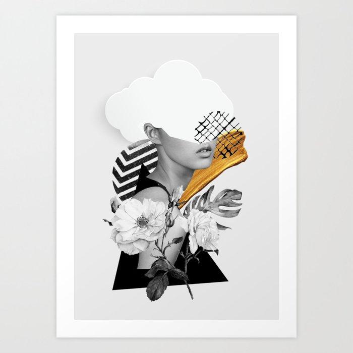 collage art (girl) Art Print by dada22   Society6