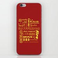 gryffindor iPhone & iPod Skins featuring Gryffindor by husavendaczek