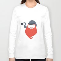 beard Long Sleeve T-shirts featuring Beard by Volkan Dalyan