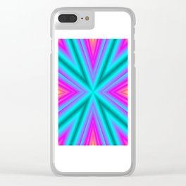 Magic of colors Clear iPhone Case