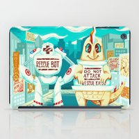 kaiju iPad Cases featuring Rescue Kaiju by Good Afterwoon