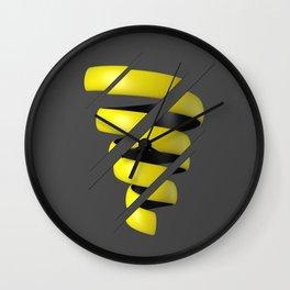 Sliced Spiral Wall Clock
