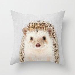 Hedgehog - Colorful Throw Pillow
