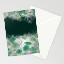 Lotus leaf and pond Stationery Cards